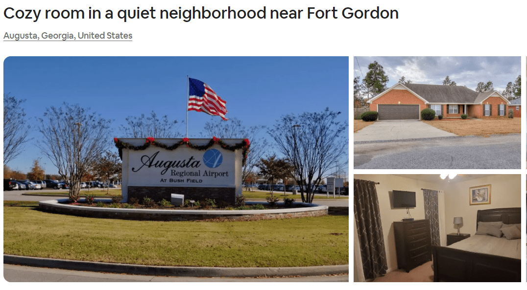 Airbnb Augusta, Georgia
