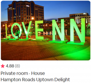 Airbnb Virginia, Hampton