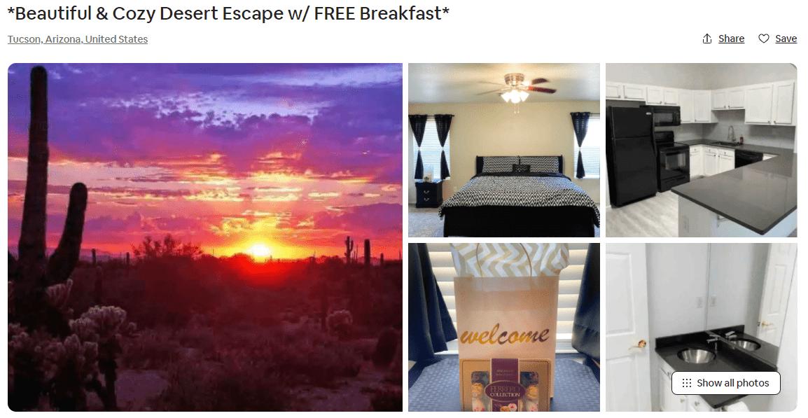 Airbnb Tucson, Arizona